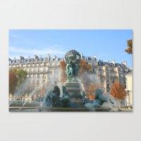 Paris Fountain Canvas Print