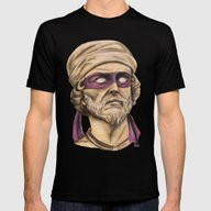 Donnie TMNT Mens Fitted Tee Black SMALL