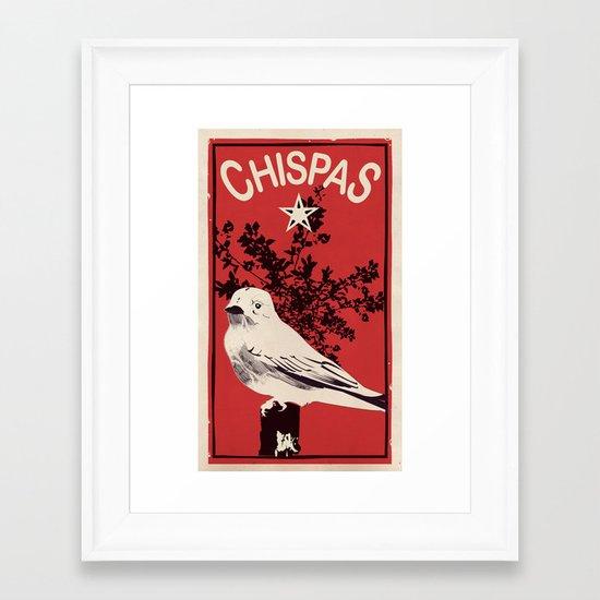 """Chispas """"sparkles"""" Framed Art Print"""