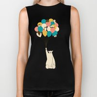 Penguin Bouquet Biker Tank