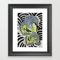Japanese Baku Tattoo Framed Art Print