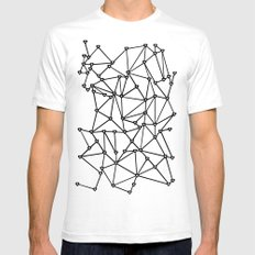 Abstract Heart Black on White White Mens Fitted Tee SMALL
