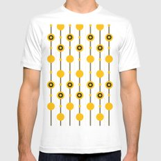 70ies Gold Mens Fitted Tee White SMALL