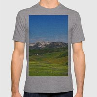 Crested Butte Mens Fitted Tee Athletic Grey SMALL