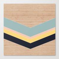 wood triangle Canvas Print