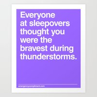 Sleepover Thunderstorms Art Print