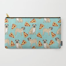 Pug Pizza Party cute pug dog owner gifts food pet gifts puggle puppy dog pet portrait trendy  Carry-All Pouch