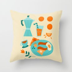 Most Important Meal Throw Pillow
