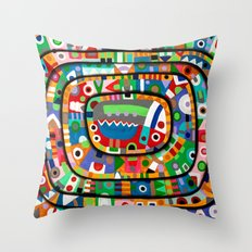 Planet of all good people Throw Pillow