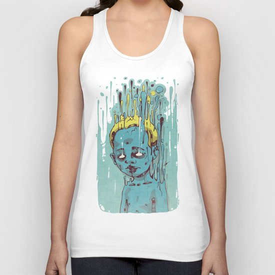 The Blue Boy with Golden Hair Unisex Tank Top