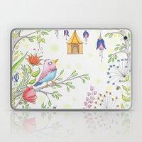 garden and bird Laptop & iPad Skin
