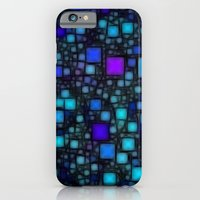 iPhone & iPod Case featuring Post It Blue Glow by Alice Gosling