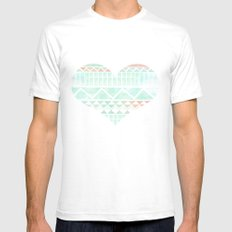 Aztec Love Mens Fitted Tee White SMALL