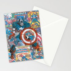 Vintage Comic Capt America Stationery Cards