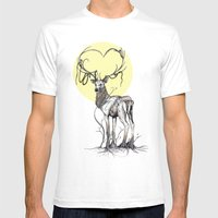 Rooted Mens Fitted Tee White SMALL