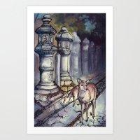 Nara Deer Art Print