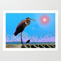 Big Bird, Little Bird Art Print