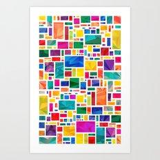 Polygonal Map Art Print