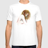 Hidden girl Mens Fitted Tee White SMALL