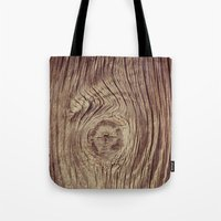 Vintage Weathered Wood Tote Bag