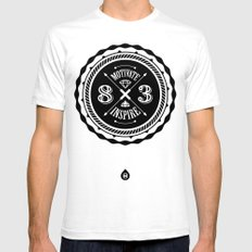 Motivate & Inspire Mens Fitted Tee White SMALL