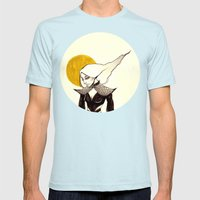 Raven Mens Fitted Tee Light Blue SMALL