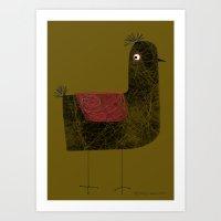 TEXTURED BIRD Art Print