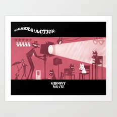 Groovy Movie Art Print