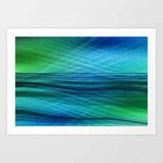 data flow Art Print