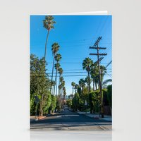 los angeles Stationery Cards featuring Los Angeles by Luke Callow