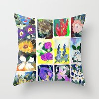A Tapestry Of Flowers Throw Pillow