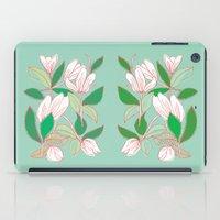 Floating Tulips (mint green) iPad Case