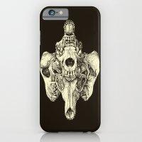 Coyote Skulls - Black and White iPhone 6 Slim Case
