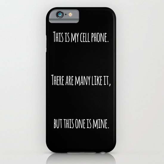 Cell Phone Cover Black iPhone & iPod Case