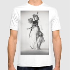 Dance SMALL White Mens Fitted Tee