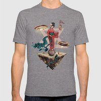 Fly Away Mens Fitted Tee Tri-Grey SMALL