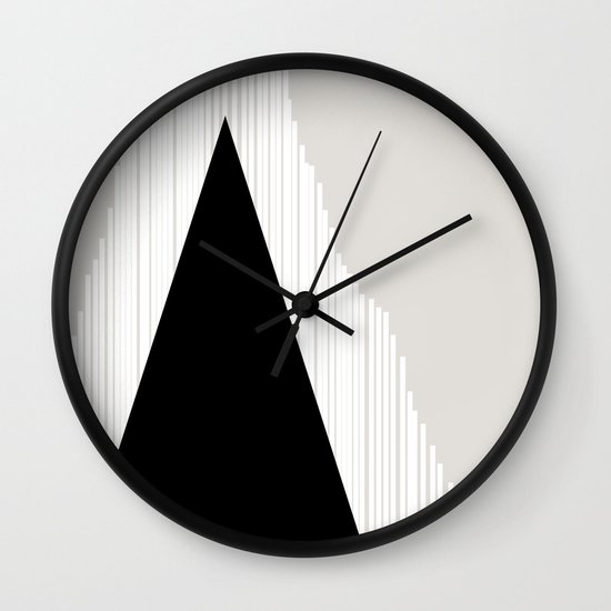 Abstract Mountain Wall Clock