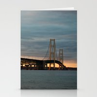 Sunset At The Mackinac B… Stationery Cards