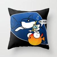 GO, FISH! Throw Pillow