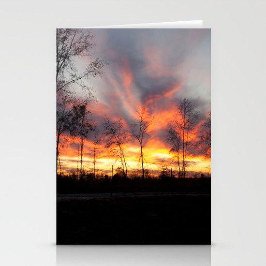 South Georgia Sky on Fire 4 Stationery Card