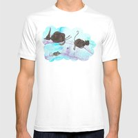 Rainbow Mens Fitted Tee White SMALL