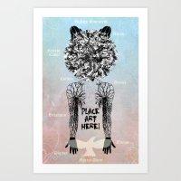 DeadBird FoxMan. Art Print