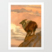 Thar (Tahr) On The Tops Art Print