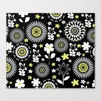 Spring Daisy Pattern Canvas Print