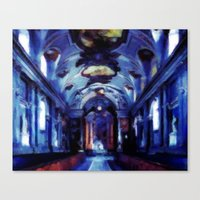 Church of Royal Palace in Stockholm - Oil Painting Style Canvas Print