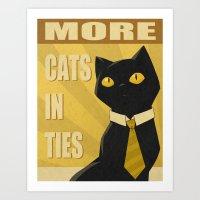 Cats In Ties - PSA Art Print