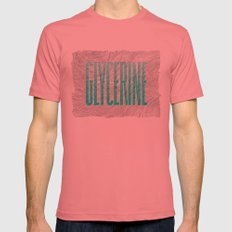 Glycerine Mens Fitted Tee Pomegranate SMALL
