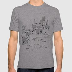 Harbour Sketch Mens Fitted Tee Athletic Grey SMALL