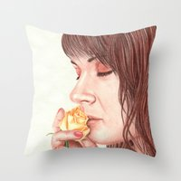 Sweet Perfume  Throw Pillow