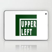 Upperleft Green Laptop & iPad Skin